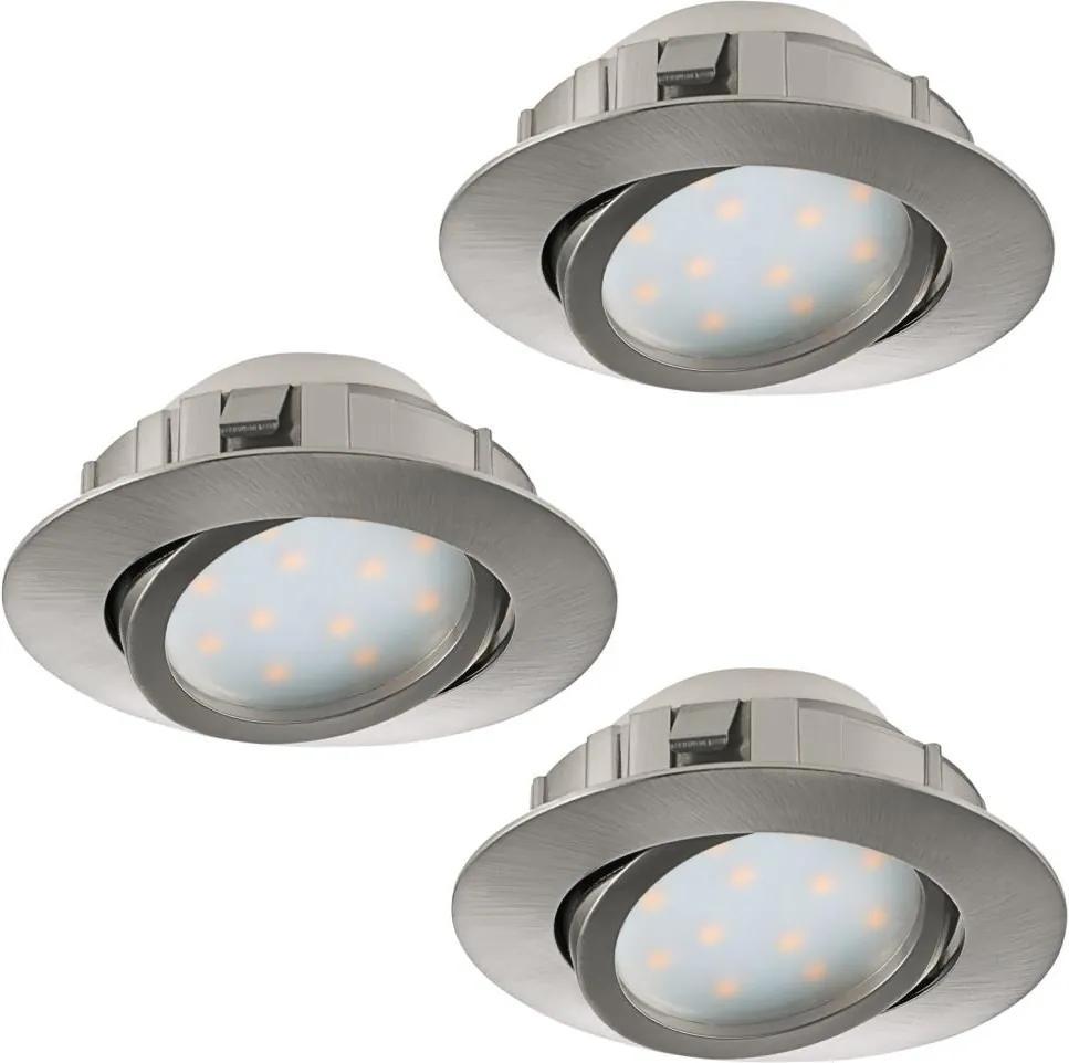 Eglo 95853 - SET 3x Corp de iluminat LED tavan fals PINEDA 3xLED/6W/230V