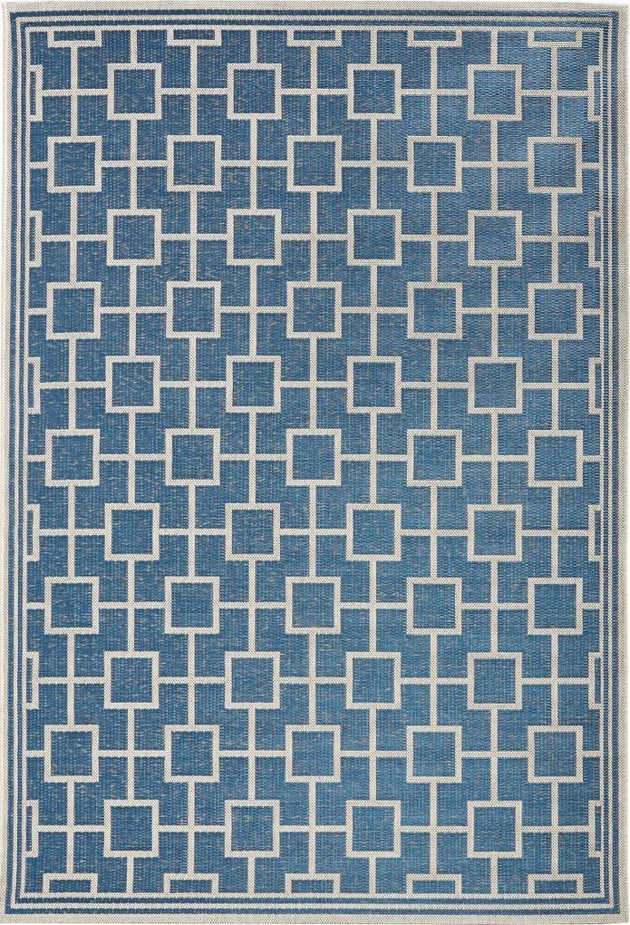 Covor Modern & Geometric Botany, Albastru, 115x165