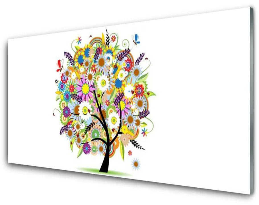 Tablou pe sticla acrilica Arborele de Arta Multi