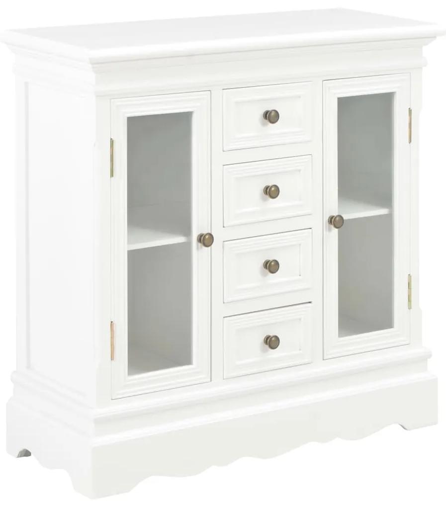 280027 vidaXL Servantă, alb, 70x28x70 cm, lemn masiv de pin
