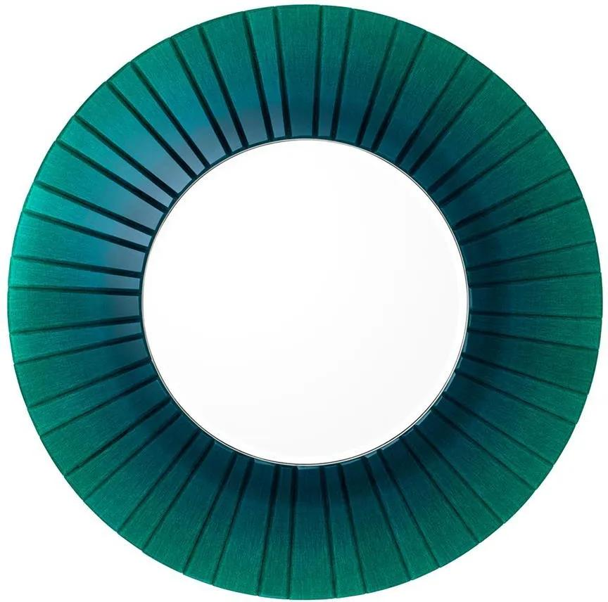 Oglinda rotunda cu rama verde smarald Ø110 cm Lecanto   EICHHOLTZ