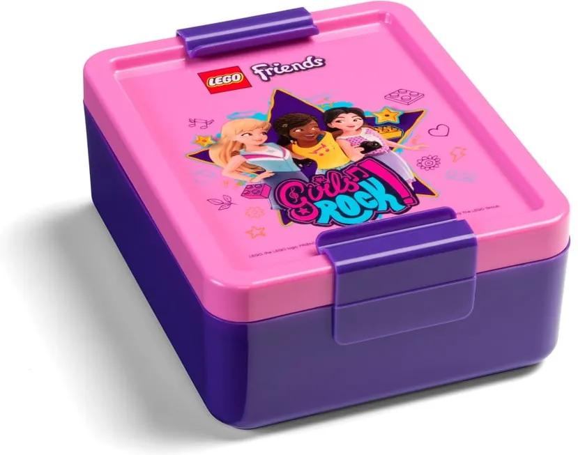 Cutie din plastic pentru gustare LEGO® Friends Girls Rock