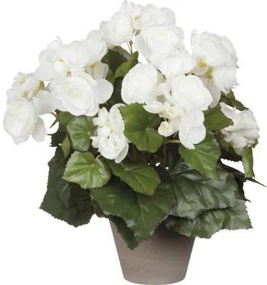 Floare artificiala, begonie, alba