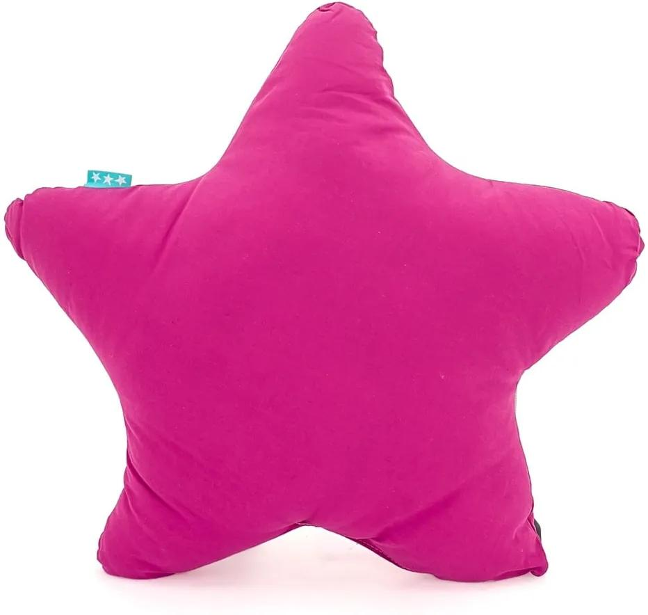 Pernă din bumbac Happy Friday Basic Estrella Fuchsia, 50 x 50 cm, roz fucsia
