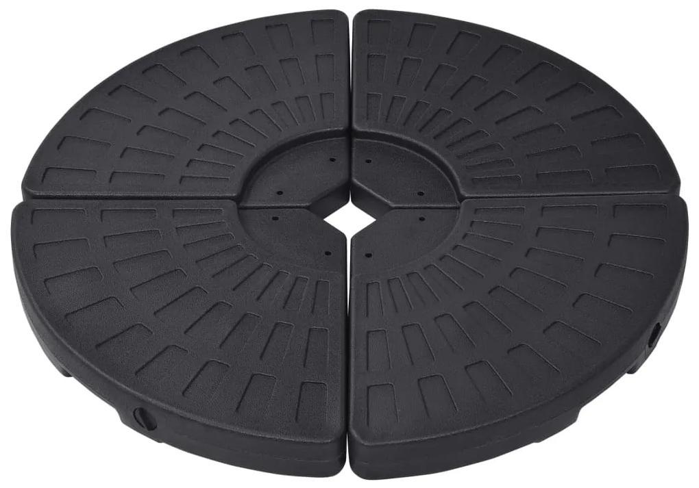 47857 vidaXL Suport de umbrelă în formă de evantai, 4 buc., negru