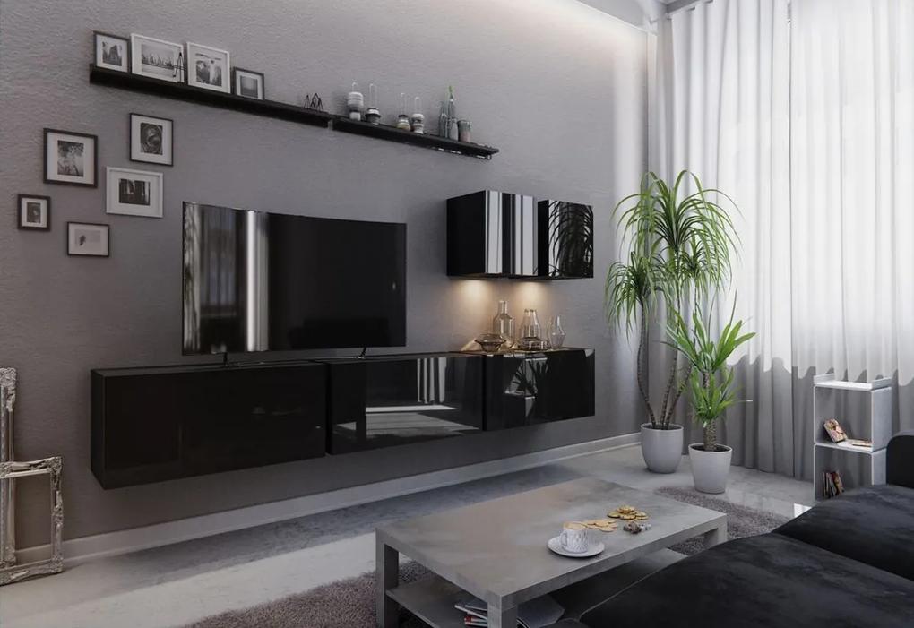 Expedo Mobilă sufragerie ELPASO 7, negru/negru luciu