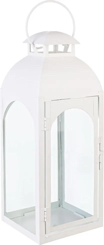 Felinar alb Agueda 15 cm x15 cm x 41h