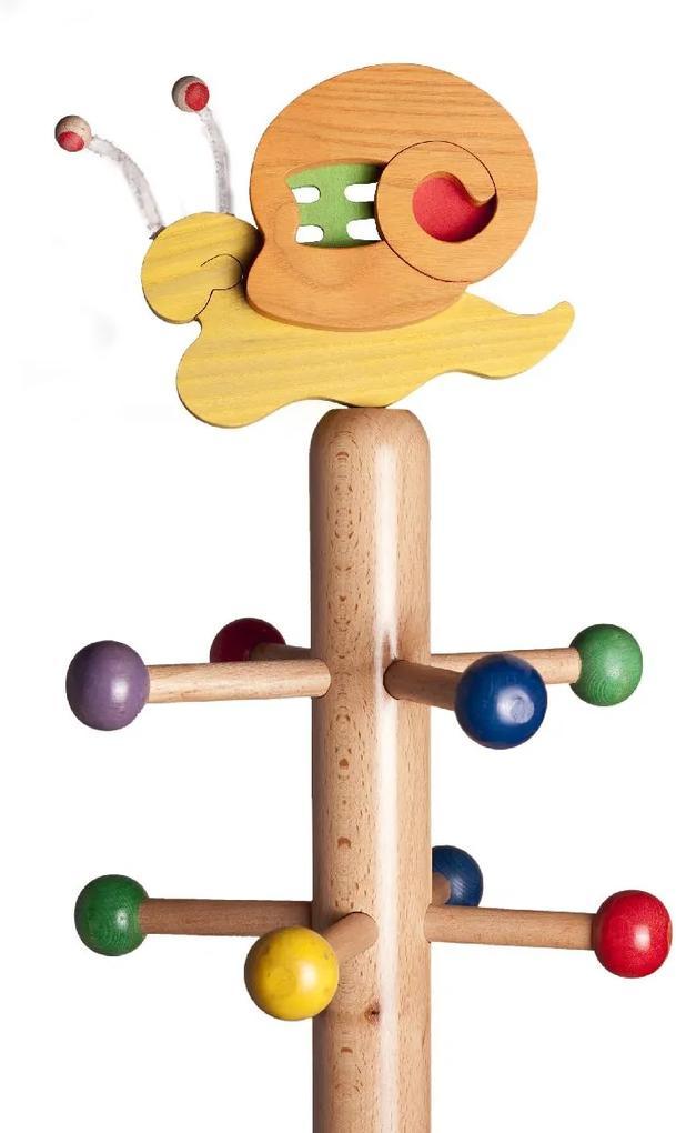 Cuier copii tip pom cu jucărie Melc