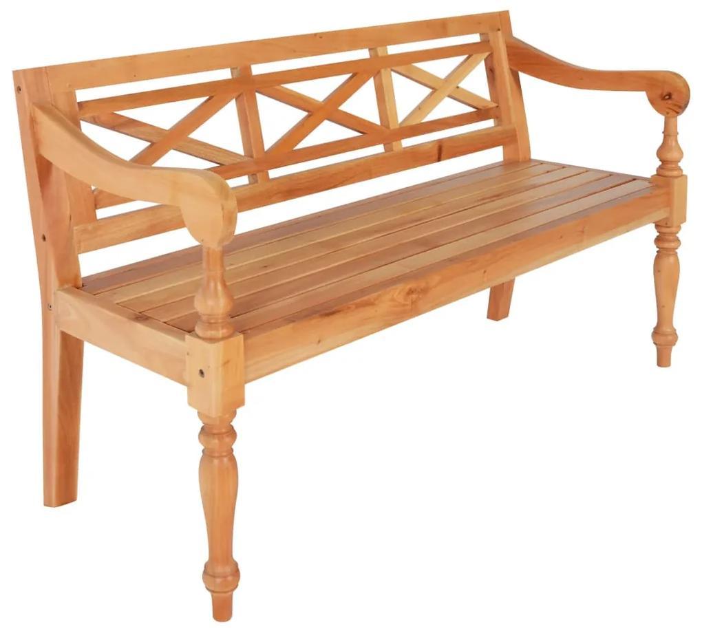 246970 vidaXL Bancă Batavia, maro deschis, 136 cm, lemn masiv mahon