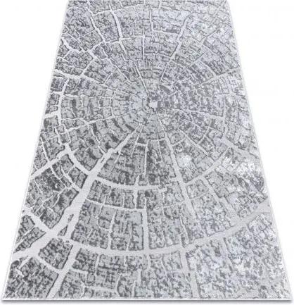 Covor MEFE modern  6185 Copac Lemn - structural două niveluri de