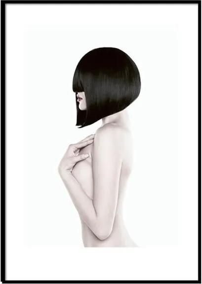 Poster cu ramă Piacenza Art Black Lady Body, 30 x 20 cm