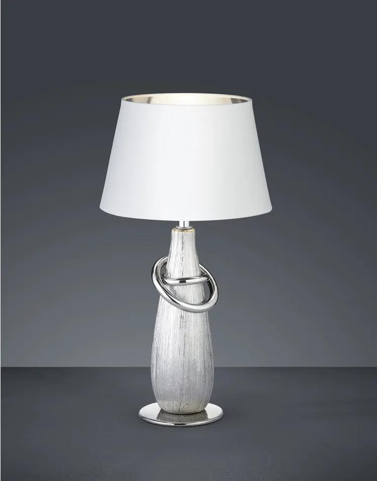 Trio R50641089 Lampa de masa de noapte THEBES argintiu ceramică excl. 1 x E14, max. 40W IP20