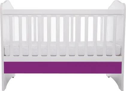 Patut Como fara sertar alb cu violet + saltea Cocos 7 cm