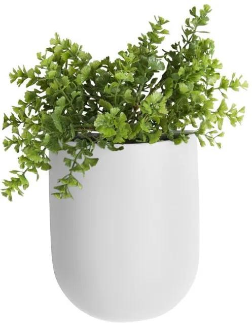 Ghiveci suspendat din ceramică PT LIVING Oval, alb mat
