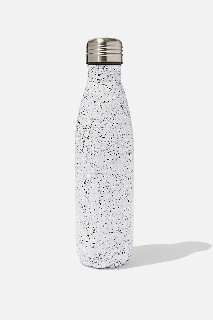 Sticla din otel inoxidabil Splatter 500 ml alb
