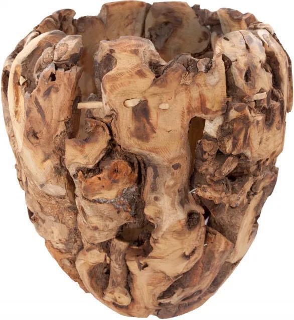 Vaza decorativa din lemn Cetus, natural