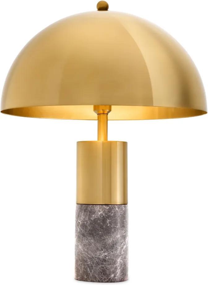 Lampa de birou Flair Grey Marble Brass