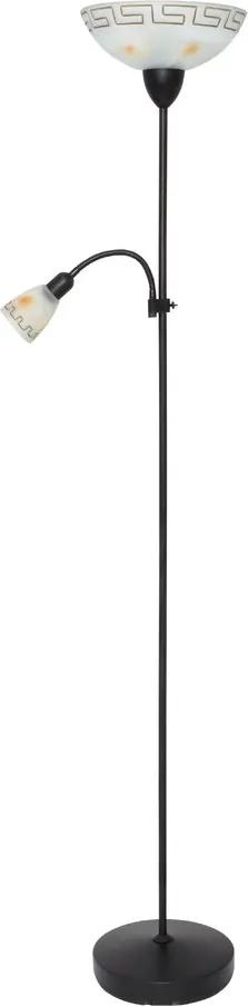 Rábalux 6968 Lampadar de citit Etrusco marou antic metal E27 1x MAX 100W +                           E14 1x MAX 40W IP20