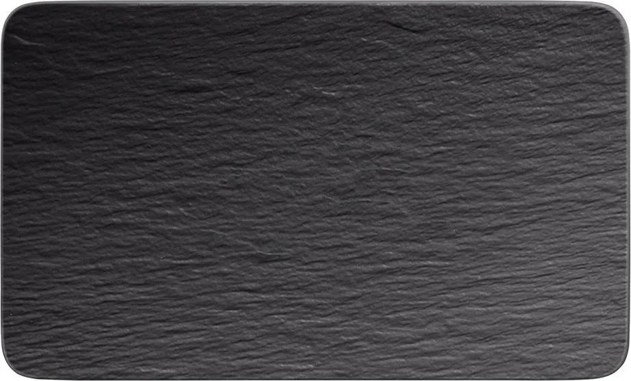 Farfurie multifuncțională, pătrată, colecția Manufacture Rock - Villeroy & Boch