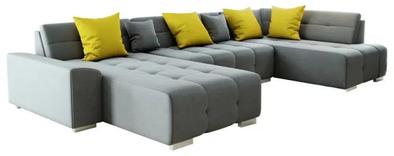 Canapea gri/mustar model dreapta BELLIS U