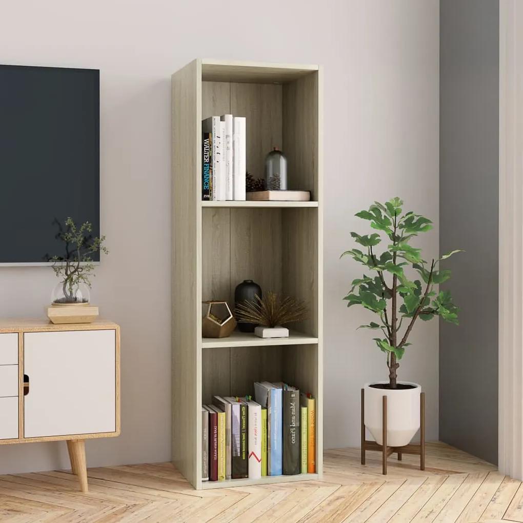 800138 vidaXL Bibliotecă/Comodă TV, stejar Sonoma, 36 x 30 x 114 cm, PAL