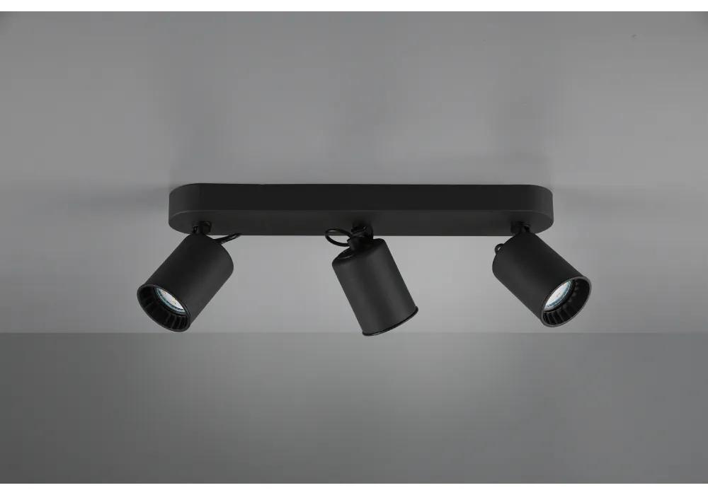 SPOT PAGO, 41X7 CM, 3XGU10, 35 W, METAL, NEGRU MAT