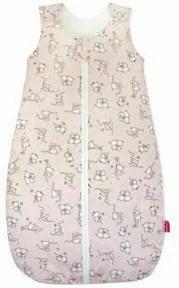 KidsDecor - Sac de dormit fara maneci Loving Bear 60 cm din Bumbac, 60x23 cm, 0-3 luni, Tog 0.5, Roz