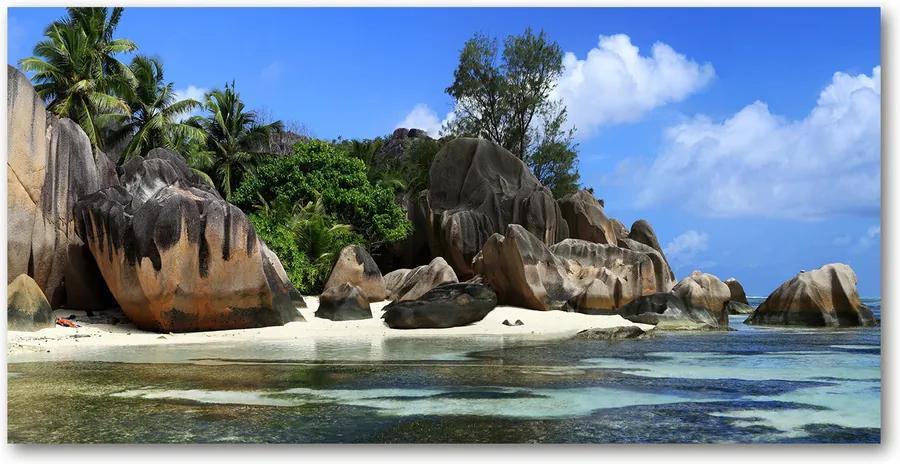 Fotografie imprimată pe sticlă Seychelles panorama