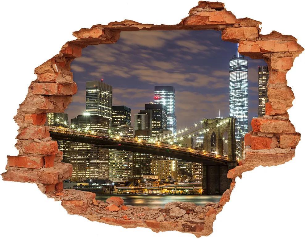Autocolant autoadeziv gaură Podul Brooklyn