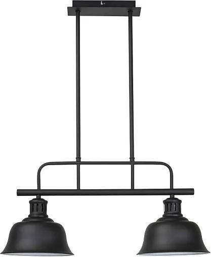 Rábalux 2743 Pendule, lămpi suspendate Caitlin negru mat metal E27 2X MAX 60W IP20