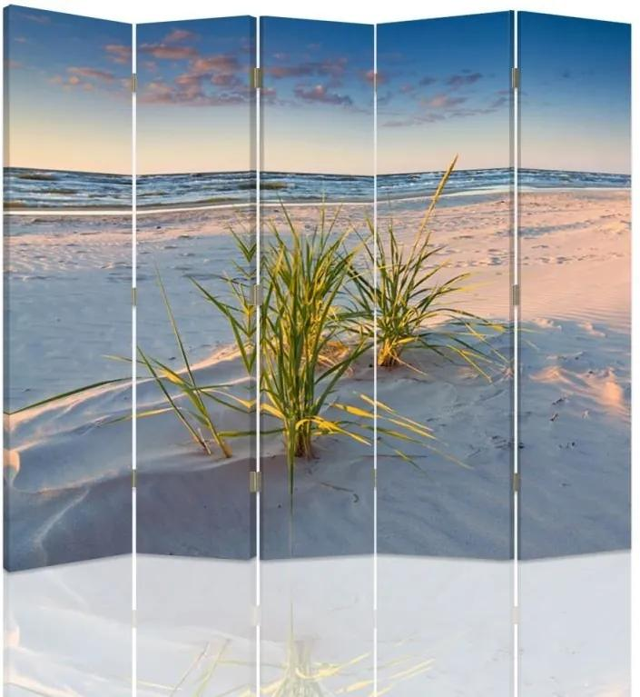 CARO Paravan - Green Grass On The Beach | cinci păr?i | reversibil 180x150 cm