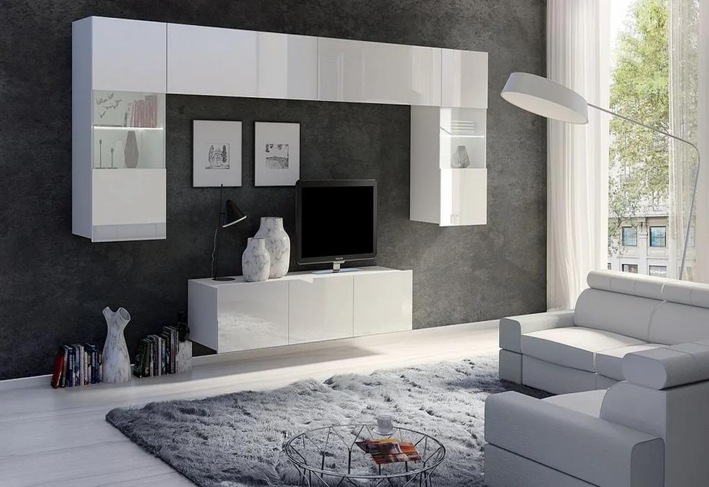 Expedo Set living BRINICA NR2, alb/alb luciu + LED alb