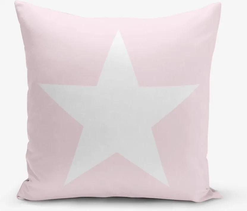 Față de pernă Minimalist Cushion Covers Star Pink, 45 x 45 cm