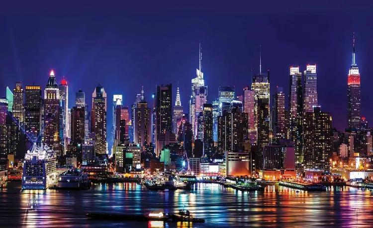 New York City Fototapet, (104 x 70.5 cm)
