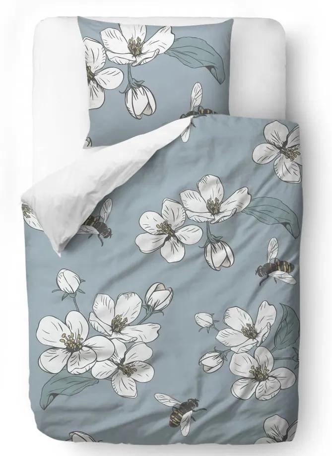 Lenjerie de pat din bumbac satinat Butter Kings Cherry Blossom, 200 x 200 cm