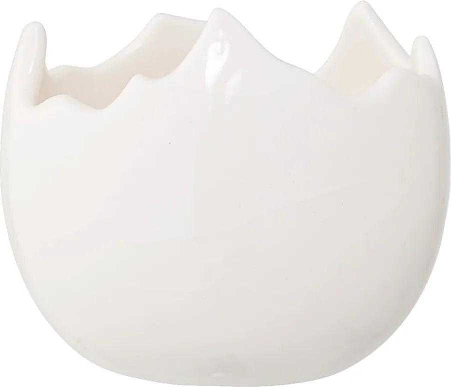 Sfeșnic din ceramică Bloomingville Easter, ⌀ 7,5 cm, alb