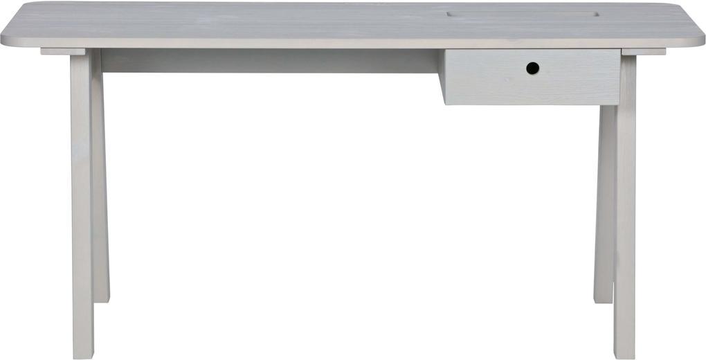 Birou Sammie din lemn de pin 74x160x65 cm - Gri cald