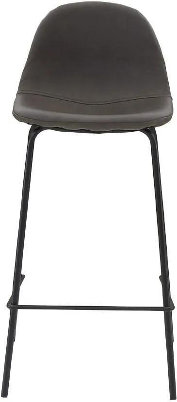 Scaun de Bar Zara - Metal Maro Inchis Lungime(45 cm) x Latime(45 cm) x Inaltime(86.5 cm)