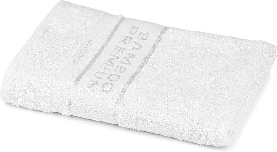 Prosop 4Home Bamboo Premium, alb, 70 x 140 cm, 70 x 140 cm