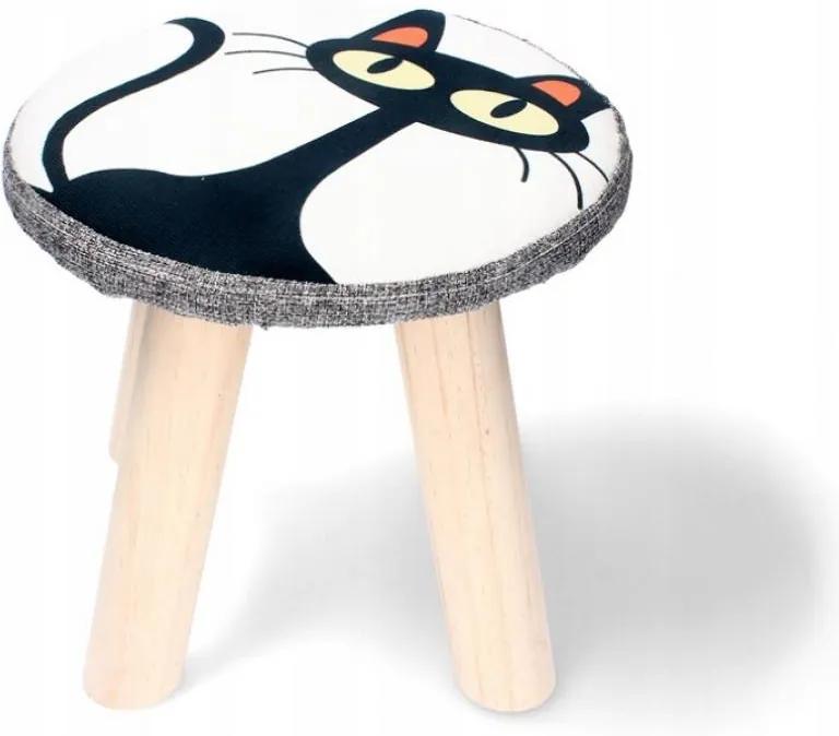 Scaun pentru copii 28x28cm Pisică