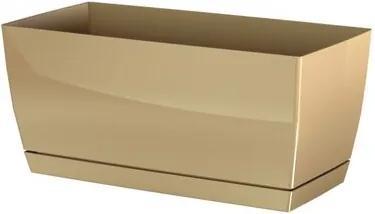 Ghiveci din plastic Coubi Case, cu vas, cacao, 24 cm, 24 cm