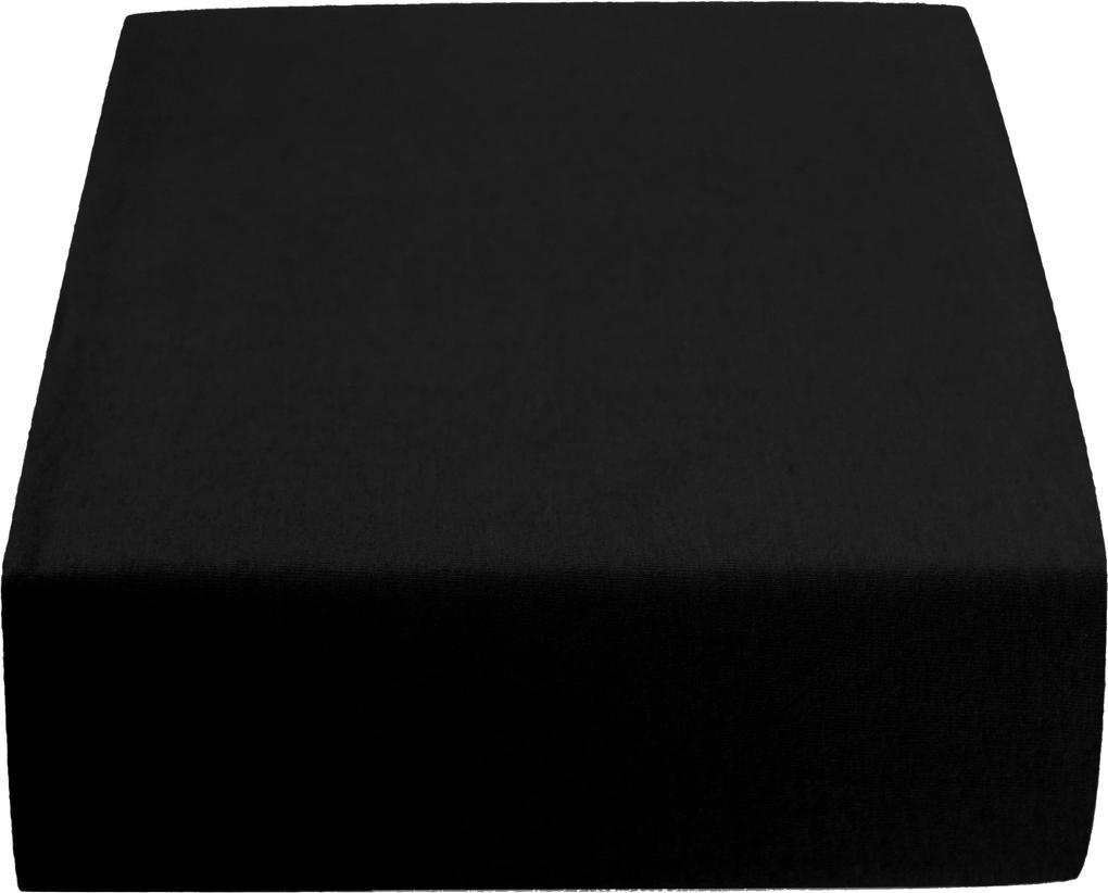 Cearșaf Jersey 180 x 200 cm negru Gramaj (densitatea fibrelor): Lux (190 g/m2)