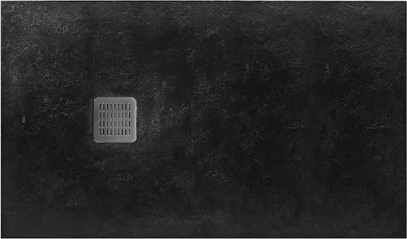 Cadita de dus Roca Terran 120x80cm, Superslim Stonex, negru