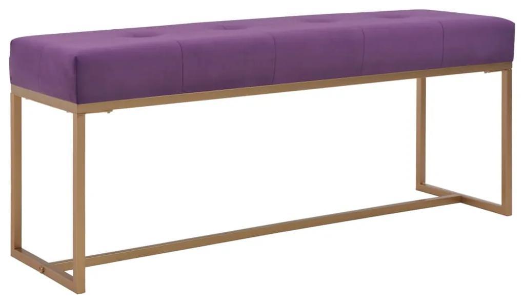 247562 vidaXL Bancă, violet, 120 cm, catifea