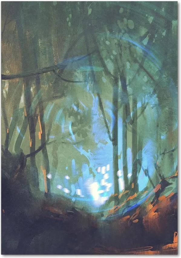 Tablou acrilic Pădure mistic