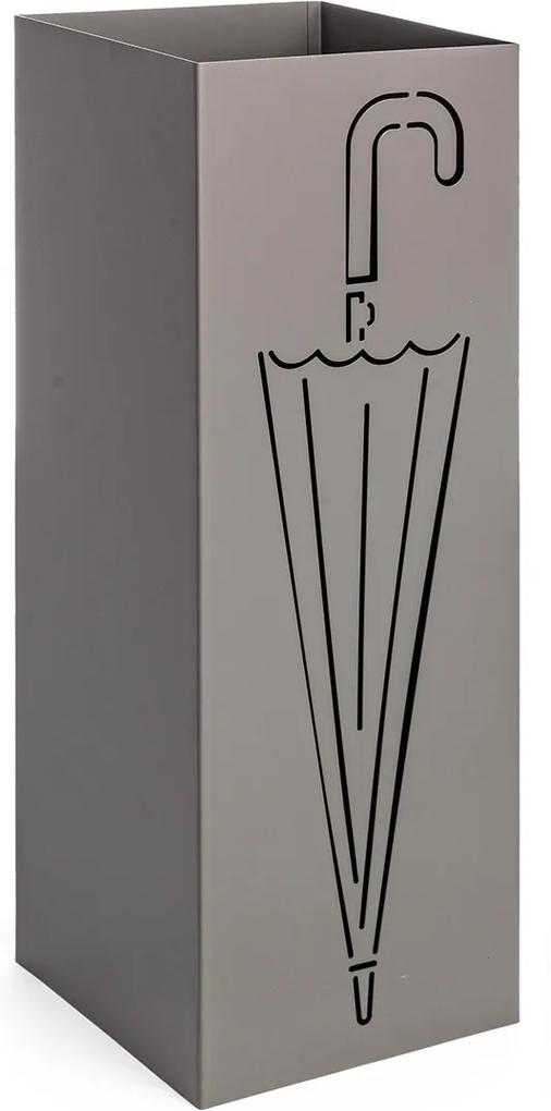 Suport umbrele metal gri Drizzle 18 cm x 18 cm x 49 h
