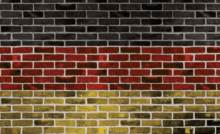 Brick German Flag Fototapet, (104 x 70.5 cm)
