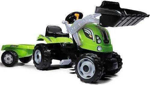 Tractor cu pedale si remorca Smoby Fun Farmer Max Verde