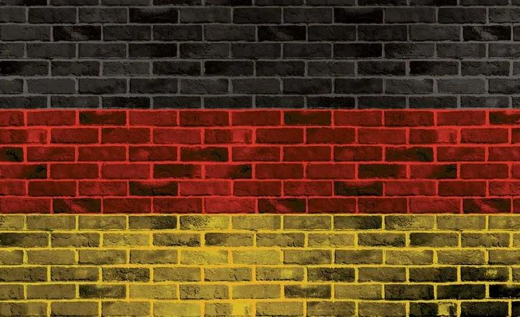 Brick German Flag Fototapet, (416 x 254 cm)