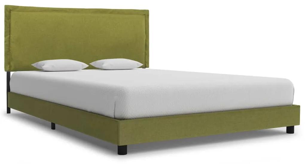 280997 vidaXL Cadru de pat, verde, 120 x 200 cm, material textil